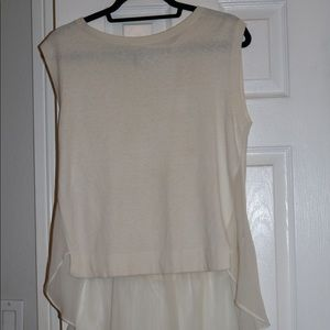 THEORY Cashmere and Silk Sleeveless Top